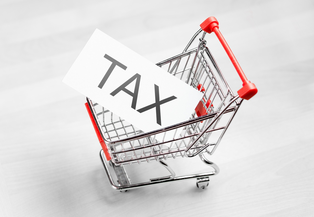 sales tax shopping cart